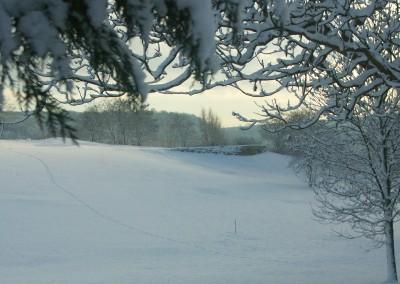 trou 7 sous la neige