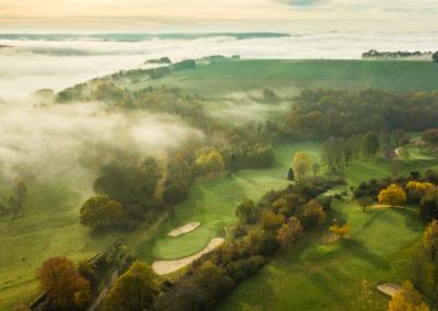 trou 12,13,14 et Chateau-Thierry sous le brouillard