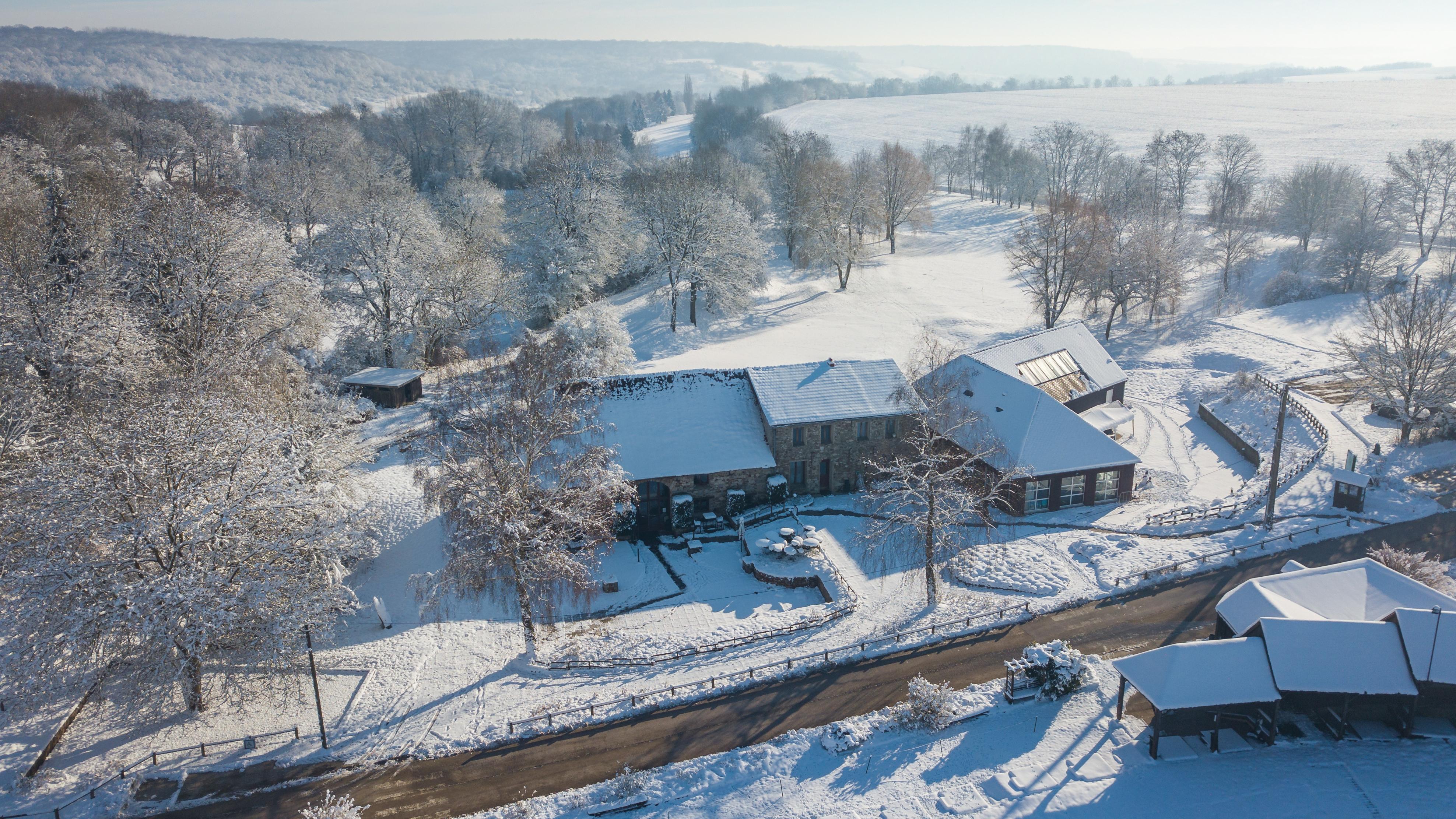 Club House Sous la neige