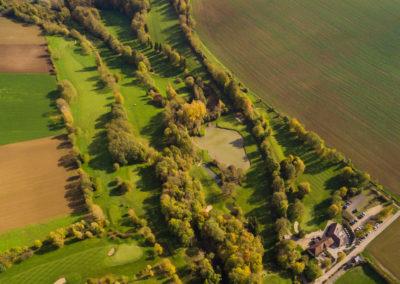 Vue aerienne golf